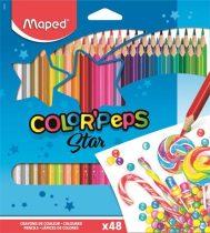 """MAPED Színes ceruza készlet, háromszögletű, MAPED """"Color'Peps"""", 48 különböző szín"""