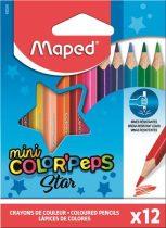 """MAPED Színes ceruza készlet, háromszögletű, MAPED """"Color'Peps Mini"""", 12 különböző szín"""
