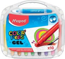 """MAPED Zsírkréta, kitekerhető, MAPED """"Color'Peps GEL"""", 10 különböző szín"""