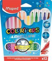 """MAPED Filctoll készlet, 1-3,6 mm, kimosható, MAPED """"Color'Peps"""", 12 különböző szín"""