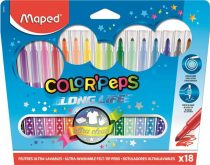 """MAPED Filctoll készlet, mosható, MAPED """"Color'Peps"""", 18 különböző szín"""