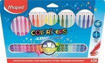 """MAPED Filctoll készlet, mosható, MAPED """"Color'Peps"""", 24 különböző szín"""