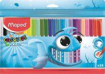 """MAPED Filctoll készlet, 2 mm, kimosható, MAPED """"Color'Peps Ocean"""", 24 különböző szín"""