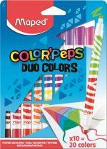 """MAPED Filctoll készlet, mosható, MAPED """"Color'Peps Duo"""", 20 különböző szín"""