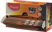 "MAPED Grafitceruza display, HB, háromszögletű, MAPED ""Black Peps"""
