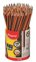 """MAPED Grafitceruza, ceruzatartó, HB, háromszögletű, MAPED """"Black'Peps"""""""
