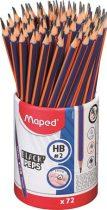 """MAPED Grafitceruza, ceruzatartó, HB, háromszögletű, MAPED """"Black'Peps Navy"""""""