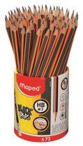"MAPED Grafitceruza radírral, ceruzatartó, HB, háromszögletű, MAPED ""Black'Peps"""