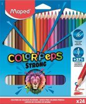 """MAPED Színes ceruza készlet, háromszögletű, MAPED """"Color'Peps Strong"""", 24 különböző szín"""