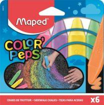 """MAPED Aszfaltkréta, MAPED """"Color'Peps"""", 6 különböző szín"""