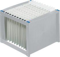 HELIT Függőmappa tároló, műanyag, HELIT, világosszürke-kék