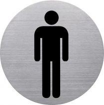 HELIT Információs tábla, rozsdamentes acél, HELIT, férfi mosdó