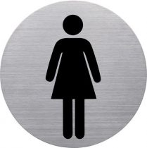 HELIT Információs tábla, rozsdamentes acél, HELIT, női mosdó
