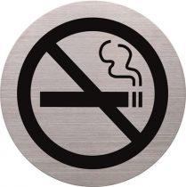 HELIT Információs tábla, rozsdamentes acél, HELIT, tilos a dohányzás