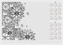 """PANTA PLAST Könyökalátét, A3, 410x275 mm, színezhető, PANTA PLAST, """"virágos"""""""