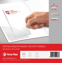 PANTA PLAST Sarokzseb, 120x120 mm, öntapadó, PANTA PLAST