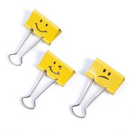 "RAPESCO Bindercsipesz, 19 mm, ""Emoji"", RAPESCO, sárga"