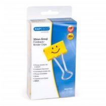 "RAPESCO Bindercsipesz, 32 mm, ""Emoji"", RAPESCO, sárga"