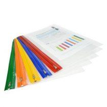 """RAPESCO Irattartó tasak, A4+, cipzáros, RAPESCO, """"Zip Strip"""", vegyes színek"""