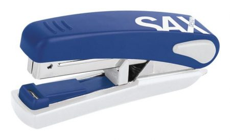 """SAX Tűzőgép, No. 10, 20 lap, lapos tűzés, SAX """"519"""", kék"""