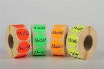 """Etikett, 38 mm kör, """"AKCIÓ"""" felirattal, 1000 etikett/tekercs, piros"""