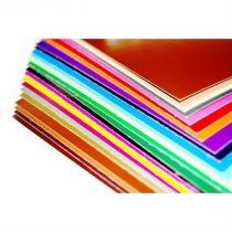 Dekor karton 1 oldalas 48x68 világos barna
