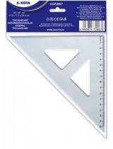 SAKOTA Háromszög vonalzó, műanyag, 45°, 16 cm, SAKOTA