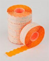METO Árazógépszalag, 22x12 mm, METO, narancs