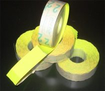 METO Árazógépszalag, 19x16 mm, METO, citrom