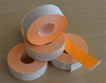 METO Árazógépszalag, 19x16 mm, METO, narancs