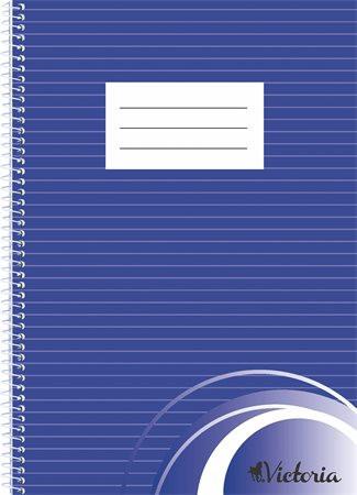 VICTORIA Spirálfüzet, A4, vonalas, 70 lap, VICTORIA
