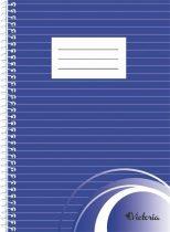 VICTORIA Spirálfüzet, A5, vonalas, 70 lap, VICTORIA