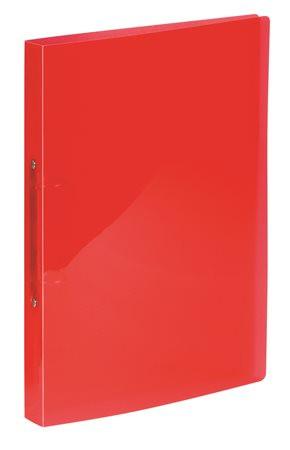 """VIQUEL Gyűrűs dosszié, 2 gyűrű, 25 mm, A4, PP, VIQUEL """"Propyglass"""", piros"""