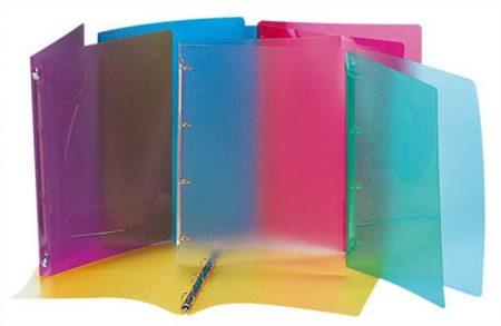 """VIQUEL Gyűrűs dosszié, 4 gyűrű, 25 mm, A4, PP, VIQUEL """"Propyglass"""", vegyes szín"""