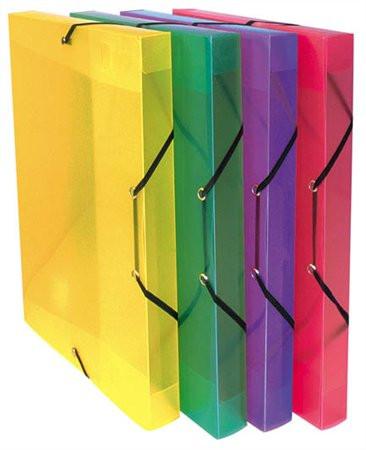 """VIQUEL Gumis mappa, 30 mm, PP, A4, VIQUEL """"Coolbox"""", áttetsző  lila"""