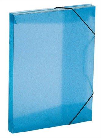 """VIQUEL Gumis mappa, 30 mm, PP, A4, VIQUEL """"Propyglass"""", kék"""