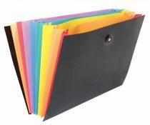 "VIQUEL Harmonikamappa, PP, 8 rekeszes, VIQUEL ""Rainbow Class"", fekete"
