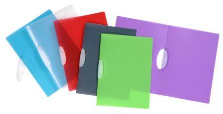 """VIQUEL Gyorsfűző, klipes, PP, A4, VIQUEL """"Propyglass V-Clip"""", vegyes színek"""