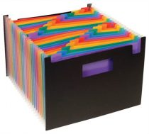 "VIQUEL Harmonikairattartó, PP, 25 rekeszes, VIQUEL ""Rainbow Class"", fekete"