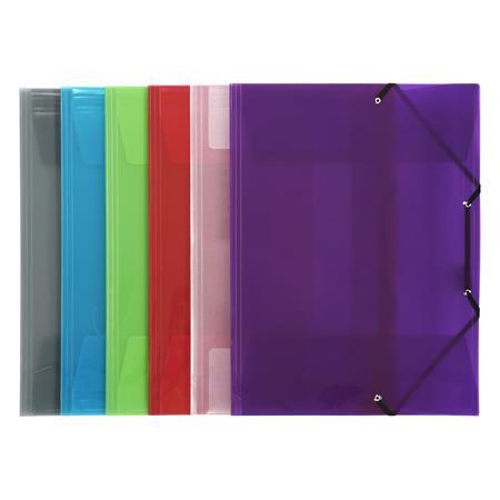 """VIQUEL Gumis mappa, 30 mm, PP, A3, VIQUEL """"Propyglass"""", vegyes színek"""