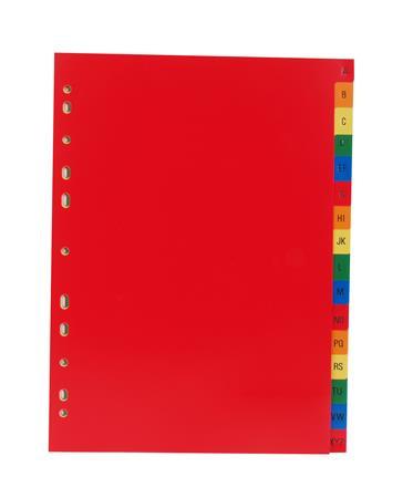 VICTORIA Regiszter, műanyag, A4, A-Z, VICTORIA, színes