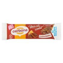 CERBONA Müzliszelet, 20 g, CERBONA, csokoládés
