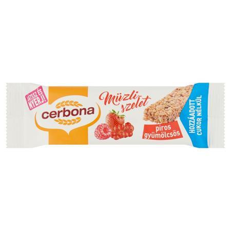 CERBONA Müzliszelet, 20 g, CERBONA, piros gyümölcsös