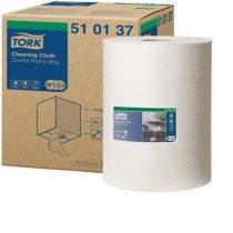 """TORK Törlőkendő, tekercses, oldószeres tisztításhoz, TORK """"Premium Multipurpose"""", fehér"""