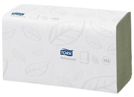"""TORK Kéztörlő, Z/C hajtás, 2 rétegű, H3 rendszer, Advanced, TORK """"Singlefold"""", zöld"""