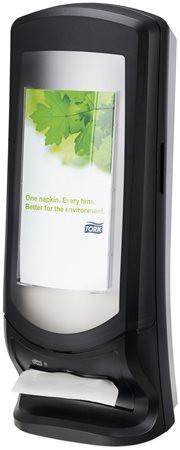 """TORK Szalvéta adagoló, N4 rendszer, 622x235x235 mm, TORK """"Xpressnap"""", fekete"""