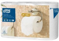 "TORK Toalettpapír, T4 rendszer, 4 rétegű, 19,5 m, TORK ""Premium"", fehér"