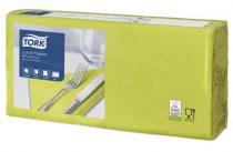 """TORK Szalvéta, 1/4 hajtogatott, 2 rétegű, 32,6x33 cm, Advanced, TORK """"Lunch"""", lime"""