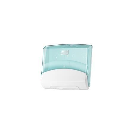 TORK Tisztítókendő adagoló, műanyag, W4 rendszer, TORK, fehér/türkiz