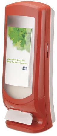"""TORK Szalvéta adagoló, N4 rendszer, 62,2x23,5x23,5 mm, TORK, """"Xpressnap"""", piros"""